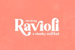 Ravioli Serif Font Product Image 1