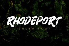 Rhodeport - Brush Font Product Image 1