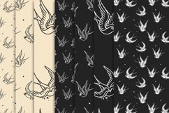 Traditional Swallows seamless Vector Pattern Product Image 2