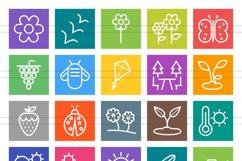 50 Seasons Line Multicolor B/G Icons Product Image 2