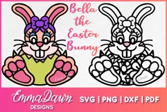 BELLA THE EASTER BUNNY SVG, MANDALA ZENTANGLE 2 DESIGNS Product Image 1