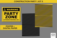 Construction birthday party printable decorations, party kit Product Image 2