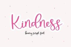 Kindness - A Bouncy Handwritten Script Font Product Image 1