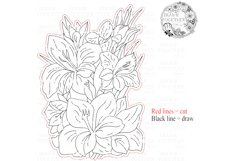 Gladiolus - Single line for Foil Quill, Digi Stamp. Product Image 4