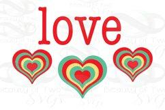 Valentine Love Retro svg Valentines Day Vintage svg cut file Product Image 2
