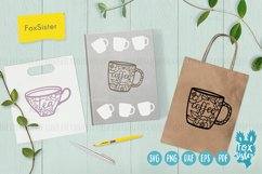 Tea and Coffee cups svg, Tea time Product Image 4