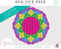 3D Layered LOVE, HOPE, FAITH Mandala SVG Cut File Product Image 3