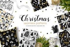 12 Christmas Seamless Patterns Product Image 1