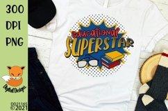 Educations Superstar Teacher Sublimation Design Product Image 1