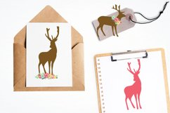 Floral Deers graphics and illustrations Product Image 4