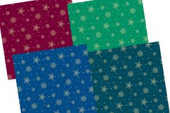 Gold Snowflakes Digital Papers Seamless Patterns Product Image 4