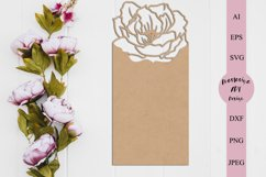 Floral card template svg, Menu card svg, Seating card dxf Product Image 1