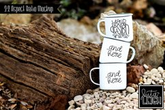 Three Stack Campfire Mug Beach Camping Mockup Product Image 1