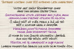 Taxpayer - my own handwriting font! Product Image 3