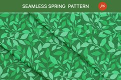 Seamless pattern with green leaves. Spring season Product Image 4