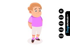 Sad Boy Clipart Product Image 1