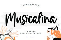 Musicalina Modern Handwritten Font Product Image 1