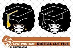 2x Afro Girl Bundle svg, Mask svg ,Graduation, Black History Product Image 1