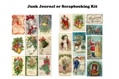 Vintage Christmas Junk Journal or Scrapbook Add Ons Kit PDF Product Image 3