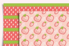 Strawberry Digital Paper Seamless Product Image 3