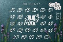Baby Name Split Monograms - SVG files for Laser cut, Cricut Product Image 2