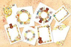 Steampunk watercolor clipart set Product Image 6