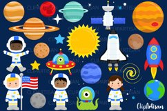 Astronauts in Space Clip Art Product Image 1