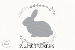 Easter Bunny Bundle Line and Silhouette/ 6 Product Image 4