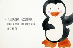 Watercolor Penguins Clipart, Penguins Clipart, Penguins PNG Product Image 3