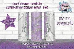 Full Wrap Purple 20oz Skinny Tumbler Sublimation Design Product Image 1