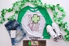 LOVE Pink St Patrick's Day Dye Sublimation PNG Design Product Image 6