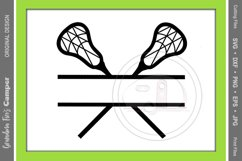 Lacrosse SVG, Lacrosse Personalize SVG, Lacrosse Split Name Product Image 2