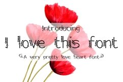 I love this font Product Image 1
