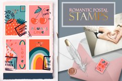 Postage stamps romantic for Valentine's Day Product Image 1