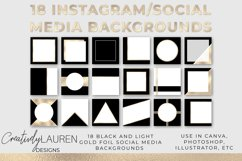Black and Light Gold Foil Instagram Template Product Image 1