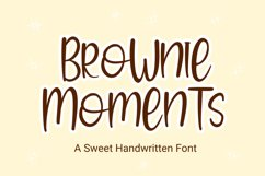 Brownie Moments - Handwritten Font Product Image 1