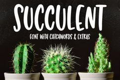 Succulent - a hand-lettered font! Product Image 2