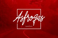 Asfrogas Typeface Product Image 1