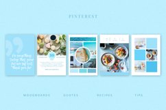 Blue | Pinterest PSD templates pack Product Image 3