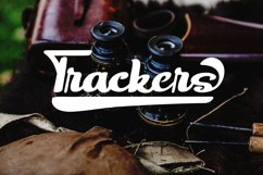 Trackers- Bold Script Font Product Image 1