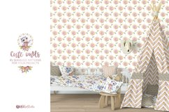 Cute owls clipart. Watercolor collection with floral forest Product Image 15