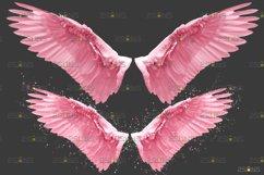 Pink Angel Wing overlay & Photoshop overlay Product Image 5