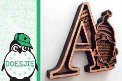 Gnome letters 3D multi layer mandala layered alphabet bundle Product Image 3