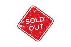 Red sold out rubber stamp. Isolated vector Product Image 1