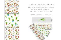 Gardening Watercolor Clipart. Spring Garden Tools PNG Set Product Image 5