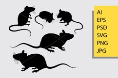 Mouse animal silhouette Product Image 1