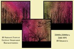 Sunset Forest Glitter Snapshot Backgrounds - 10 Image Set Product Image 2