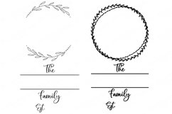 Family Monogram / Last Name Bundle - Sign Makers SVG DXF Set Product Image 6