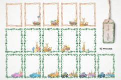 watercolor easter frame clipart Product Image 3