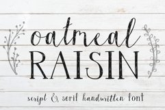 Oatmeal Raisin Script and Serif Font with Extras Product Image 1